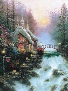 thomas kinkade sweetheart cottage ii i love all thomas's painting's they are so inspiring to me...