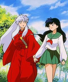 One of my very favourite anime couples, InuYasha and Kagome <3