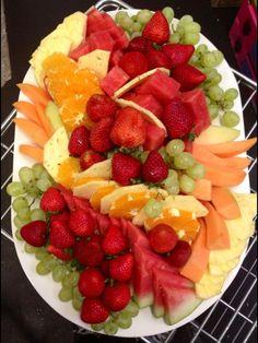 Beautiful Fresh fruit platters at  Essendon Fruit Supply