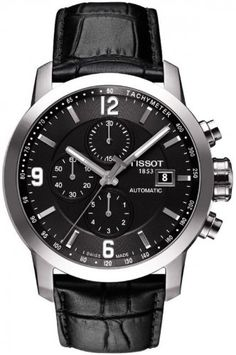 Men's Watch – Tissot – Automatic – Sapphire Crystal – Leather Band – Tachymeter – T0554271605700 by Tissot -