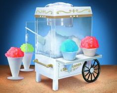 Nostalgia Electrics Snow Cone Maker. Enjoy making your own snow cones and slushies drinks with a snow cone appliance.