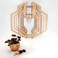 Pendant lamp GEOMETRY. Plywood. Ceiling plywood lamp,geometric lines,sharp contours,natural,wood handing lamp,design lamp