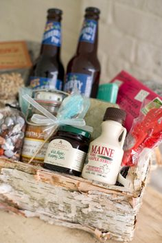 Whether planning a wedding in your backyard or thousands of miles away, a basket filled with unique gifts that are specific to the wedding location is a warm way to welcome guests to the area