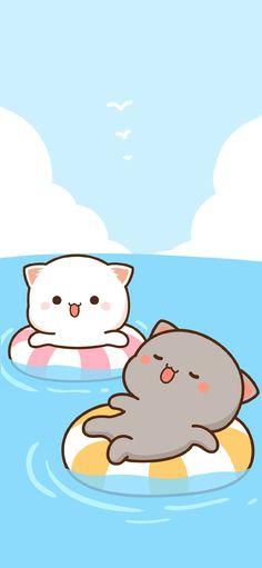 Peach Wallpaper, Kitty Wallpaper, Cute Anime Wallpaper, Cute Cartoon Images, Cute Love Cartoons, Cute Cartoon Wallpapers, Cute Bear Drawings, Cute Animal Drawings Kawaii, Cute Kawaii Animals
