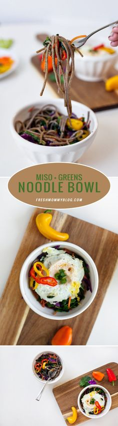 Miso and Greens Nood