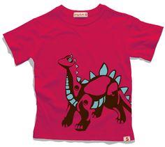 Adoramos Dinossauros, e você? Camiseta para meninos em malha 100% algodão com silk localizado. $49.90