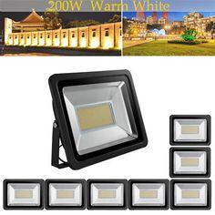 8X US Stock! 200W LED Flood Light Warm White Bright IP65 Outdoor Path Waterproof