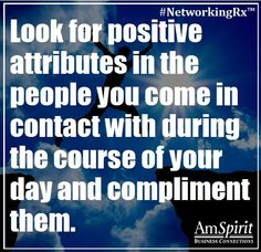 #NetworkingRx: What is a favorite item or attribute you like to compliment on others?