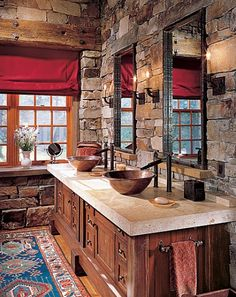 Love it! A great bathroom for the cabin in the mountains!  #thesoutherncCONTEST