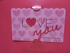 pinkylily: VICTORIAS SECRET GIFT CARD LOVE YOU