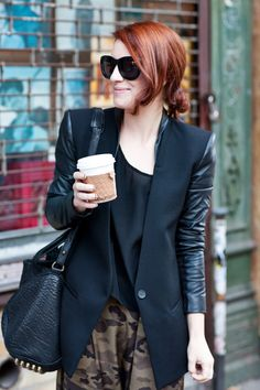 contrast sleeved blazer from   Cheetah is the New Black