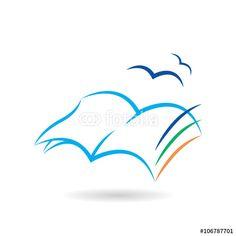 Vettoriale: Leggere un libro ti fa volare con la fantasia