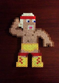 WWE Inspired Wrestling 8 Bit Perler Collection - Hulk Hogan via eb.perler. Click on the image to see more!