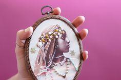 DIY vintage portrait : learn how to customize a vintage portrait to make a deco frame / Fashion & DIY Blog Artlex