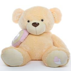 Honey Pie Big Love butterscotch cream teddy bear 56in