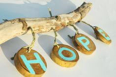Driftwood Art Rustic Tropical Decor Hope by Seagypsys on Etsy, $45.00