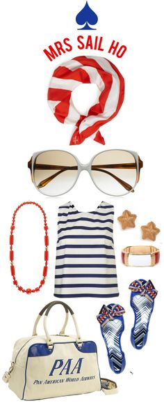 Can't Wait For Summer..blue & red stripes..and i need this bag i am a little obsessed with Pan Am!!