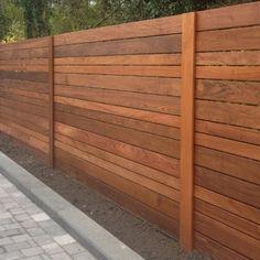 Ipe slatted fence panel