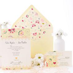 Una invitación de boda romántica y muy actual. www.azulsahara.com