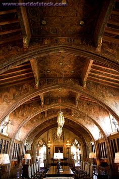 Loved touring Hearst Castle!   Shot of dining room  California - Google Search