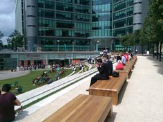 Oak Staple Benches, Paddington Central
