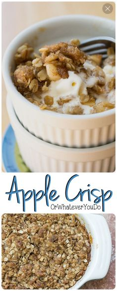 Amazing apple crisp is classic, simple, and always impressive.