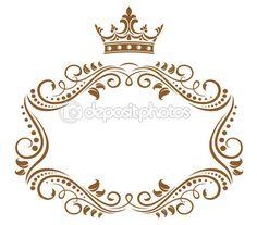 Изящная королевская структура с короной