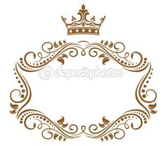 Elegante moldura real com coroa — Ilustração de Stock #9576100