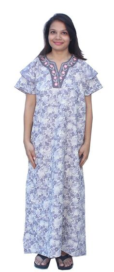Romano Women's Cotton Nighty ** Check out the image by visiting the link.