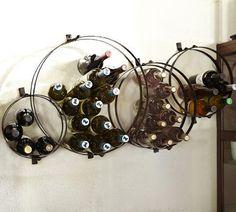 Circles Wall-Mount Wine Rack | Pottery Barn