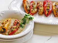 themustardseed......: Sweet potato and paneer stuffed peppers