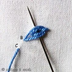 heavy chain stitch » Sarah's Hand Embroidery Tutorials