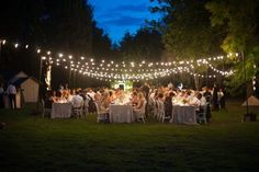 Outdoor lights wedding hire package
