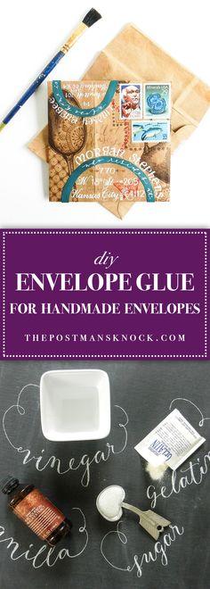 DIY Envelope Glue for Handmade Envelopes