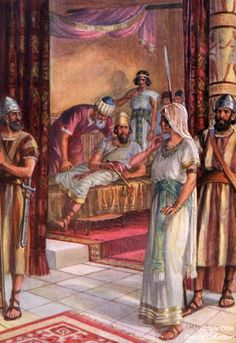 Esther 5 Bible Pictures: Esther before King Ahasuerus