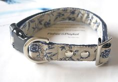 French Style Shabby Floral Dog Collar by Miasclosetshop on Etsy