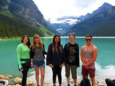 The Oyster group enjoying a day off in the stunning Rocky Mountains