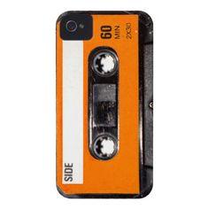 Orange Label 80's Cassette iPhone 4 Cases