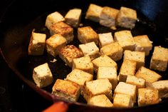cast iron pans, perfect brown, browning, avocado, vegan baking, cooking, blog, basil, brown tofu