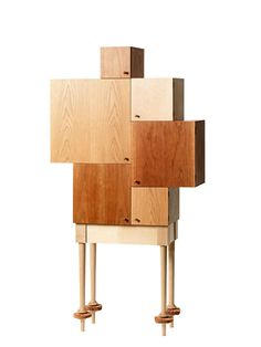 My Granddaughter's Cabinet by Lisa Hilland - Gärsnäs @ Wood-Furniture. Media Furniture, Campaign Furniture, Deco Furniture, Furniture Making, Home Furniture, Furniture Design, Unusual Furniture, Funky Furniture, Furniture Ideas