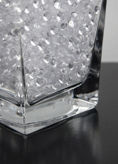 Bucket of Raindrops 92 ounces, 5-3/4 Lbs, Vase Filler, Table Scatter, Weddings