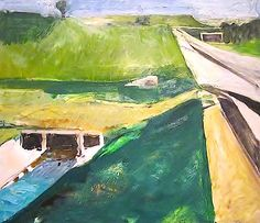 Diebenkorn, Richard-Freeway and Aqueduct 1957