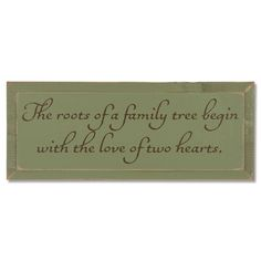 The Roots of Family Sign