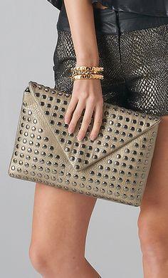 #studded #pewter #clutch #bag www.shoppublik.com