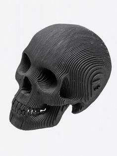 Vince Human Skull Siyah Karton İnsan Kafası Micro | Shopi go