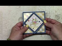 This is a tutorial on how to make a fancy card fold called the diamond fold. This is 1 of the 10 cards I mad. Card Making Tips, Card Making Tutorials, Card Making Techniques, 3d Cards, Pop Up Cards, Fancy Fold Cards, Folded Cards, Shaped Cards, Crafts To Make And Sell