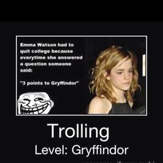 Three point for Griffindor!