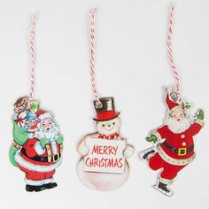 Vintage Jolly Christmas Characters Gift Tags Set of 15 | Christmas Decorations & Giftwrap | Sass & Belle