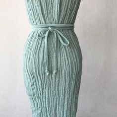 Ionic Woman Pleated Column Dress Gauze Dress, Wrap Dress, Dress Up, We Wear, How To Wear, Column Dress, Opaque Tights, Body Types, Looks Great