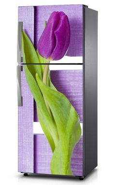 Naklejka na lodówkę - Fioletowy tulipan